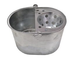 12 Litre Galvanised Mop Bucket and Wringer