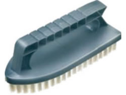Iron Shaped Scrubbing Brush