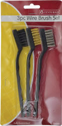 3 piece Mini Wire Brush Set