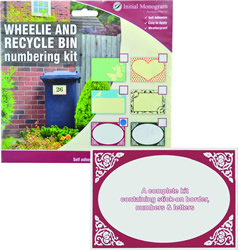 Wheelie Bin Number Kit Victorian Red