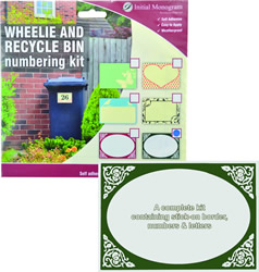 Wheelie Bin Number Kit Victorian Green