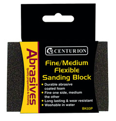Fine / Medium Flexible Sanding Block