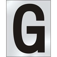 50mm polished chrome effect sign Character G