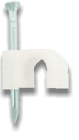 8 mm White Cable Clips Packet of 11