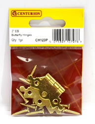 50 mm 2 inch Electro Brass Butterfly Hinge 1 pair