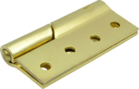 100 mm 4 inch Electro Brass Right Hand 466 Pattern Steel Rising Butt Hinges 1 pair