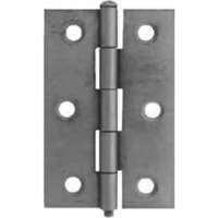100 mm Chrome Plated 1838 Pattern Steel Butt Hinge 1 pair