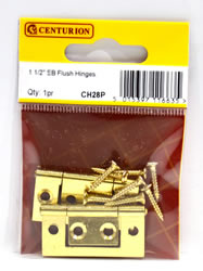 1 1 / 2 inch Electro Brass Flush Hinges 1 pair
