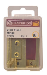 50 mm Electro Brass Flush Hinges 1 pair