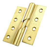 75 mm 3 inch Electro Brass Left Hand 466 Pattern Steel Rising Butt Hinges 1 pair
