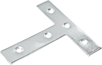 75 mm 3 inch Zinc Plated Tee Plate Packet of 2
