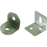 25 mm x 25 mm Zinc Plated Slotted Steel Bracket Packet of 4