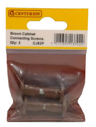 Brown Cabinet Connecting Screws Packet of 2