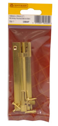 100 mm x 25 mm 1 inch Polished Brass Wide Necked Barrel Bolt
