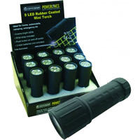 Display Box Deal 9 LED Aluminium Coloured Torches