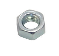 M10 Zinc Plated Steel Hex Nuts Packet of 6