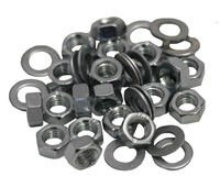 M6 Zinc Plated Nuts and Washers Packet of 20