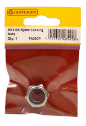 M12 Stainless Steel Nylon Locking Nuts Packet of 1