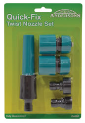 4 Piece Twist Nozzle Set