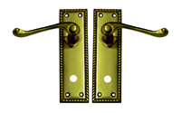 150 mm 6 inch x 2 inch Georgian Bathroom Lever Lock