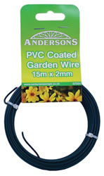 15m x 2 mm 1mm plastic PVC sign Coated Garden Wire