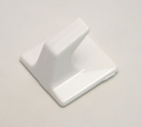 30 mm x 30 mm Plastic Self Adhesive Hooks Packet of 4