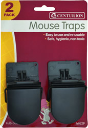 85 mm x 45 mm Plastic Mouse Traps Packet of 2
