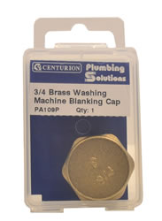 3 / 4 inch Brass Washing Machine Blanking Cap