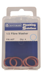 1 / 2 inch Fibre Washer Packet of 4