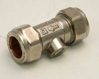 15 mm Chrome Plated CXC Screw Type Isolating Valve