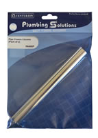 Pipe Covers Chrome Packet of 2