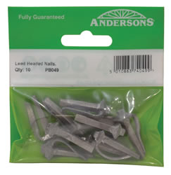 38 mm Lead Headed Wall Nails Packet of 10