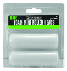 100 mm 4 inch Foam Roller Heads Packet of 2