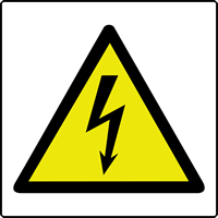 Electricity symbol labels 50 x 50mm Roll of 500