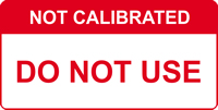 Not Calibrated Do not use labels 50 x 25mm Roll of 250