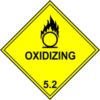 Oxidizing 5.1 labels 250 x 250mm Pack of 10