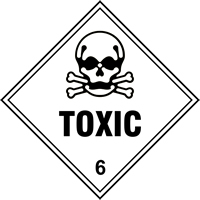 Toxic 6 labels 250 x 250mm Pack of 10