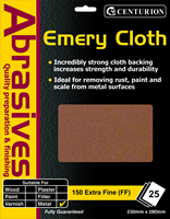 150 Extra Fine Emery Cloth Packet of 25