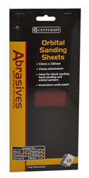 Assorted Orbital Sanding Sheets small Packet of 10