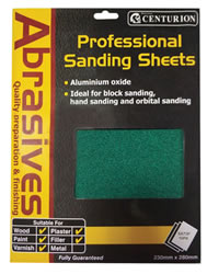 Assorted Aluminium Oxide Sanding Sheet 10 pack