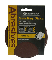 125 mm 80 Self Adhesive Circular Sanding Discs 10 pack