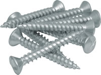 1 1 / 4 inch x 10 inch Zinc Plated Clutch Head Security Screws Packet of 10
