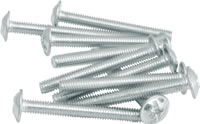 M4 x 35 mm Zinc Plated Washered Head Screws Packet of 10