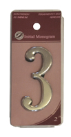 2 inch Silver Effect Numeral 3