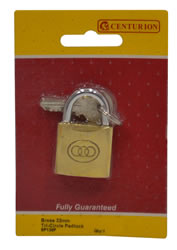 32 mm Brass Tri-Circle Padlock