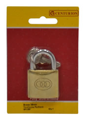 38 mm Brass Tri-Circle Padlock