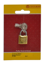 20 mm Brass Tri-Circle Padlock