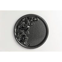 Pewter Effect Rose Plaque