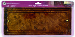 Wood Effect Long Name Plate
