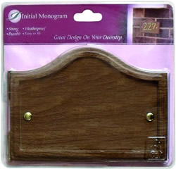 Wood Effect Shaped Plaque
